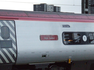 390046 Virgin Soldiers departing on a service to London Euston
