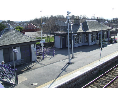 The former waiting rooms at Nairn Station, now in use as a florists