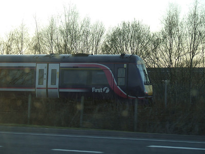 A Class 170 approaching Forres station on an Inverness service