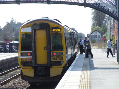 158705 at Nairn with an Inverness service