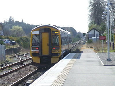 158705 departing Nairn with an Inverness service