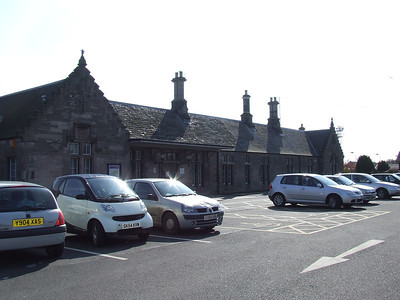 Nairn Station from the car park