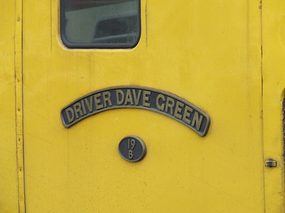 31602 Driver Dave Green - 19B with the Network Rail Test Train waiting to depart Glasgow Central. Nameplate for the engine