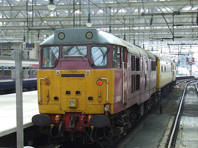 "31601 Gauge ""0"" Guild 1956-2006 with the Network Rail Test Train waiting to depart Glasgow Central"