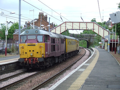"31601 Gauge ""0"" Guild 1956-2006 with the Network Rail Test Train passing through Johnstone"