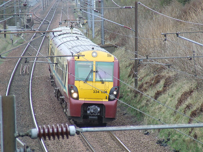 334024 on an Ardrossan Town service passing through Elderslie
