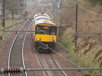318267 on a Largs service passing through Elderslie