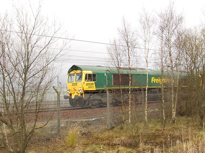 66611 passing through Elderslie with an empty coal working for Killoch Colliery