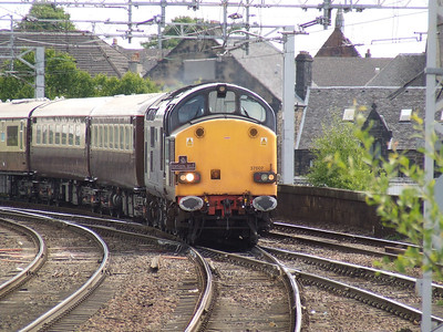 37607 at the head of the Northern Belle as it approaches Paisley Gilmour Street on a special to Wemyss Bay
