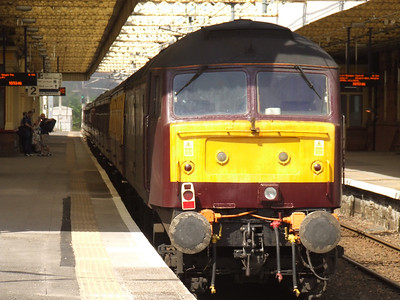 47826 at the rear of North East Railtours special for Gourock as it passes through Paisley Gilmour Street