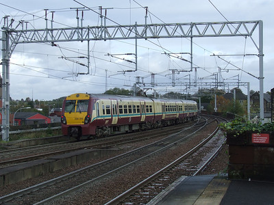 334015 departing Paisley Gilmour Street on a service to Glasgow Central