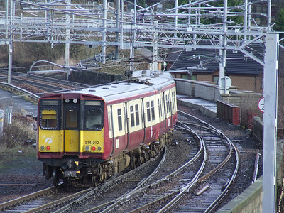 314212 departing Paisley Gilmour Street on a a service to Glasgow Central