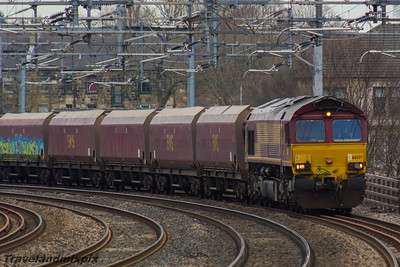 66037 DB Cargo UK Paisley Gilmour Street 16/03/2016 This was one of the last coal trains from Longannet Power Station to Hunterston. This particular service ended on 19th March 2016 with Longannet Power Station closing on 24th March 2016.