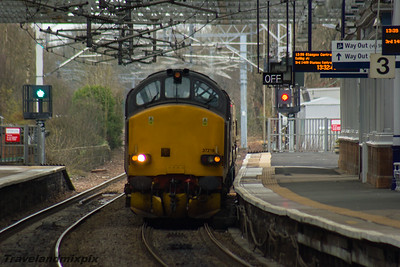 37218, 37612 DRS Paisley Gilmour Street 24/03/2016
