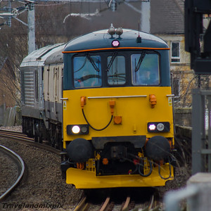 73966 GBRf  (Caledonian Sleeper livery) 67012 DB Cargo UK (Chiltern Railways livery) Paisley Gilmour Street 16/03/2016