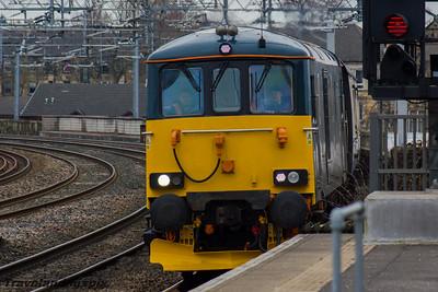 73966 GBRf  (Caledonian Sleeper livery) Paisley Gilmour Street 16/03/2016