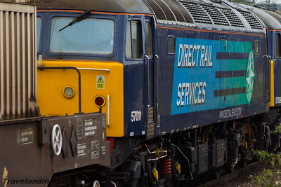 57009, 57011 DRS Paisley Gilmour Street 12/08/2015