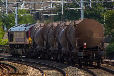 66102 DBS (EWS livery) Paisley Gilmour Street 17/08/2015