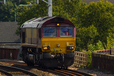 66014 DBS (EWS livery) Paisley Gilmour Street 13/08/2015