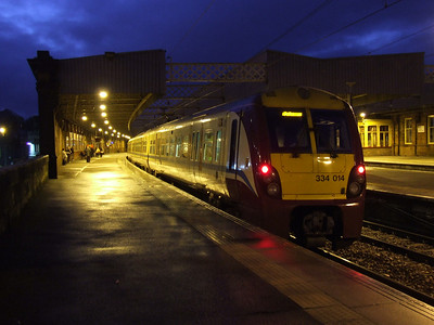 334014 at P4 of Paisley Gilmour Street on a service to Ardrossan Harbour