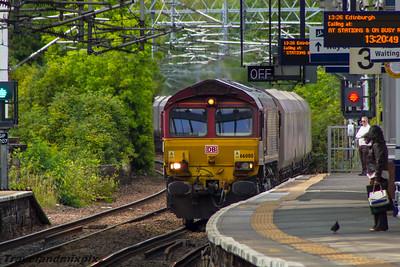 66080 DBS (EWS livery) Paisley Gilmour Street 02/09/2015