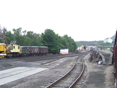 Coming through Aviemore Speyside station, the former terminus of the Strathspey Railway, past the yard as Aviemore Shed
