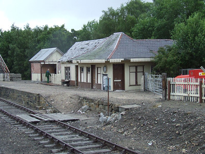 Aviemore Speyside Station. It's retained by the Strashpey Railway as a safeguard should there be any problems with access to Aviemore Station