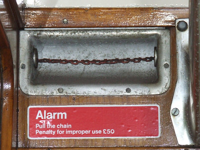 Alarm chain, typical of many BR coaches and units up to the 1980's