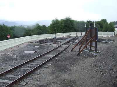 The turntable of the Strathspey Railway
