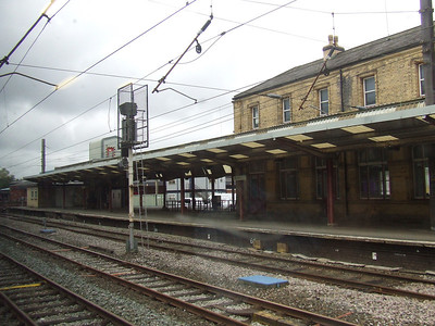 The old Rail Express Systems platform at Preston, once used to collect mail from the depot adjacent to the station