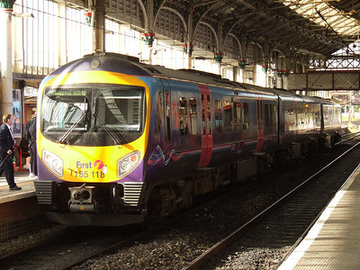 185118 on a service to Blackpool North