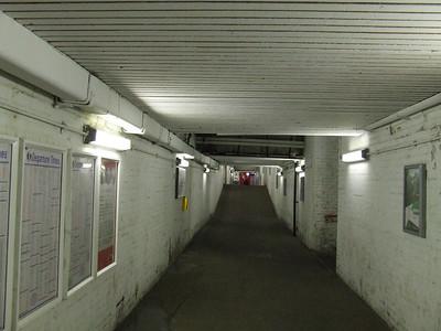 Underpass between P1/P2 and P3/4 that runs under Preston