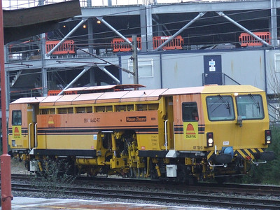 Colas Rail tamper DR73913 at Preston awaiting signals to join the main line to the South
