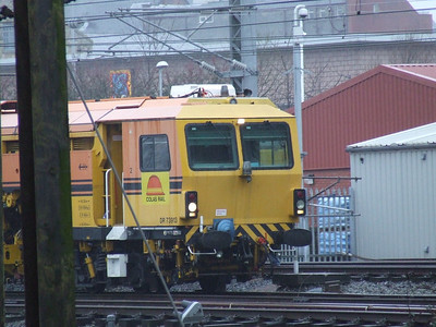 DR 73919 waiting to join the main line and head South. It is a Colas Rail Plasser & Theurer 08-16/4x4C100-RT tamper