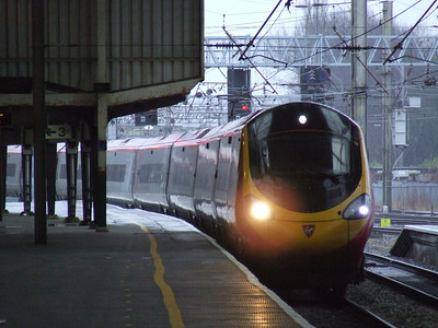 390031 City Of Liverpool drawing into Preston on a Glasgow Central service