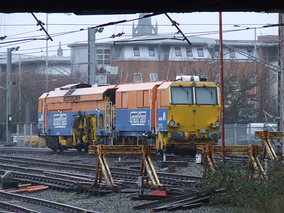 Grant Plant Matisa B41 S&C Tamper DR75405 stabled at the remains of Ladywell Sidings to the North of Preston station