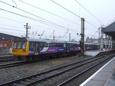 142040 and 142019 drawing into P1 at Preston