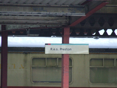 A reminder of times past. The former Rail Express System's platform at Preston, used in conjunction with the large Royal Mail depot adjacent to the station. This service disappeared at privitisation before mail trains were completely withdrawn in 2004 before reinstatement a year later, although Preston is no longer a stop for the Mail Train