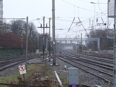 Looking towards the Ribble Viaduct from the South end of Preston Station