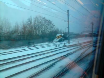 Snow plough stabled at Carlisle