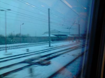 Passing by the signal box at Carlisle