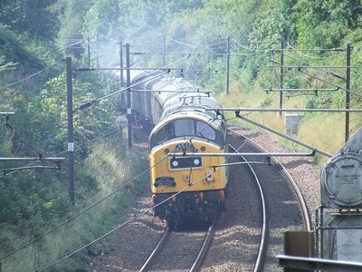 40145 East Lancashire Railway passing through Elderslie at the rear of the Scottish Railway Preservation Society Routes & Branches railtour