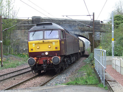 47804 at the head of the Scottish Chieftain racing through Johnstone as it heads for Stranraer