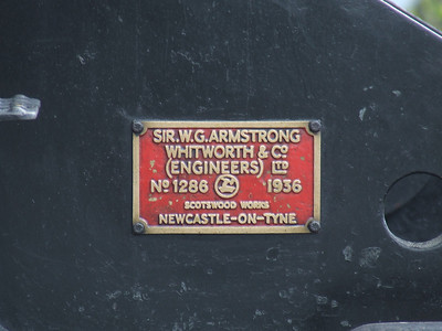 Manufacturers plate of Black 5 45231 The Sherwood Forester at P11 at the head of the Great Britain II