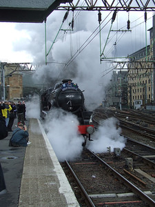 Black 5 45231 The Sherwood Forester at P11 at the head of the Great Britain II, departing on the Inverness leg of the tour