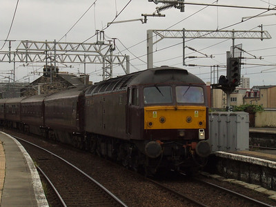 47787 at the head of Northern Belle about to pass through Paisley Gilmour Street on it's way to Wemyss Bay