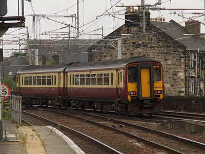156436 departs Paisley Gilmour Street on a service to Glasgow Central. This service was the early afternoon service from Stranraer