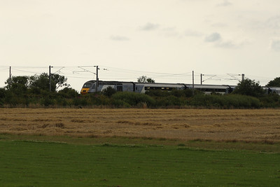 43321 at the rear of an East Coast service heading South at Beal Junction