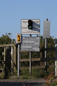 Instructions board at West Goswick Farm LC