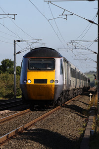 43302 at West Goswick Farm LC whilst heading North at the head of an East Coast service